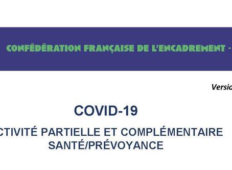 COVID-19  COMPLÉMENTAIRE SANTE ET PRÉVOYANCE mise à jour 7 mai 2020