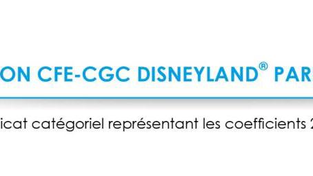 Communiqué Accord temps de travail Disneyland CFE-CGC