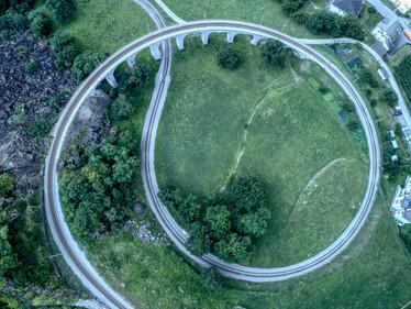 Viadukt in Brusion