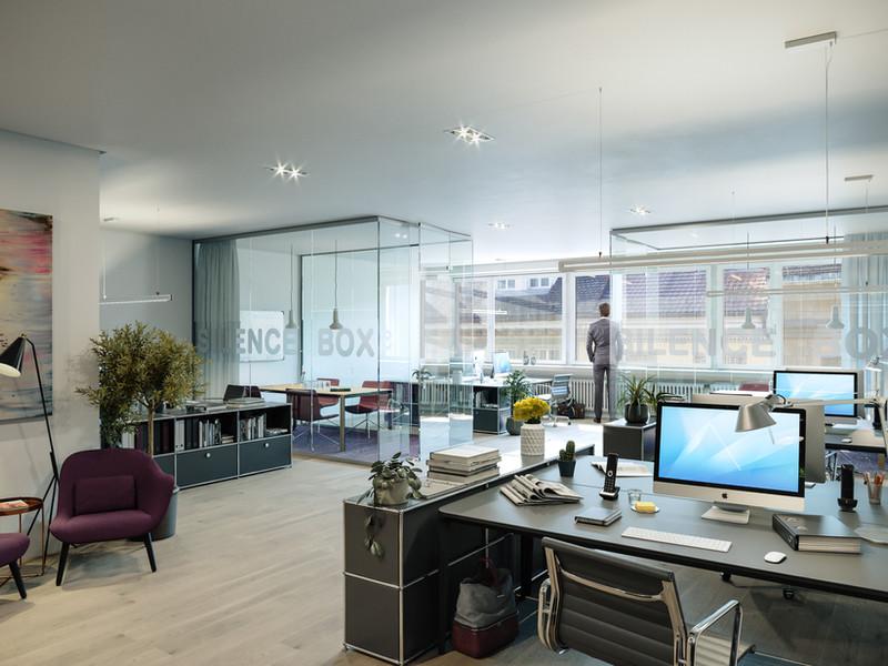So könnte Ihre Bürofläche aussehen.