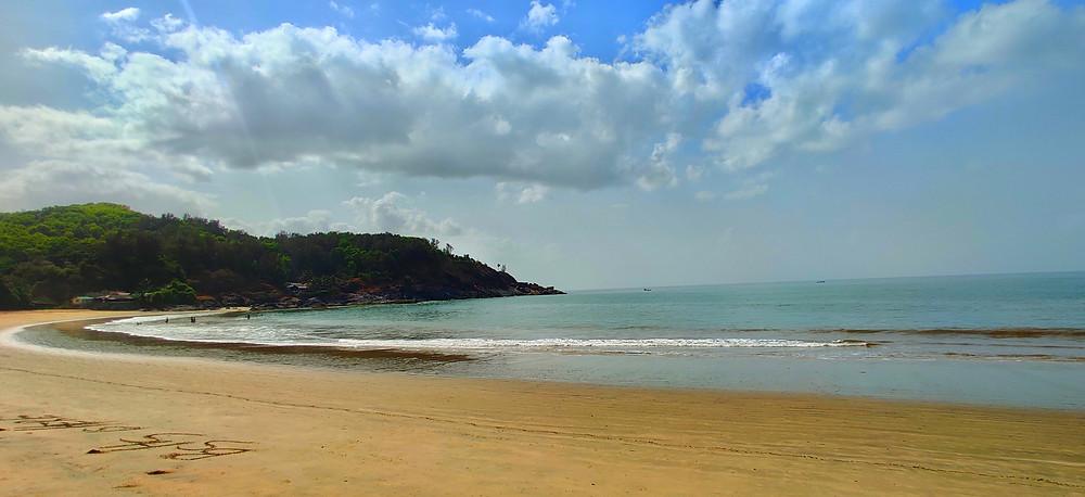 Gokarna beach trek, Om beach, Gokarna, Karnataka