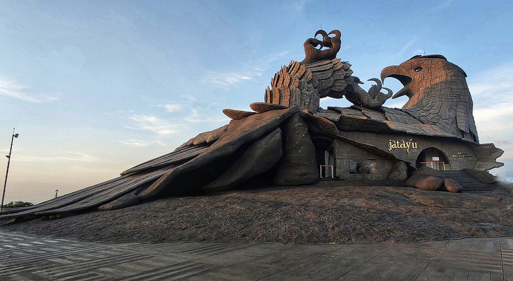 World's largest bird sculpture, Jatayu Earth's Centre, Kollam