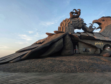 Catching the perfect sunset from the world's largest bird sculpture