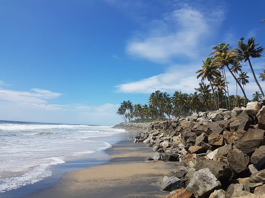 Black beach, Varkala Kerala.