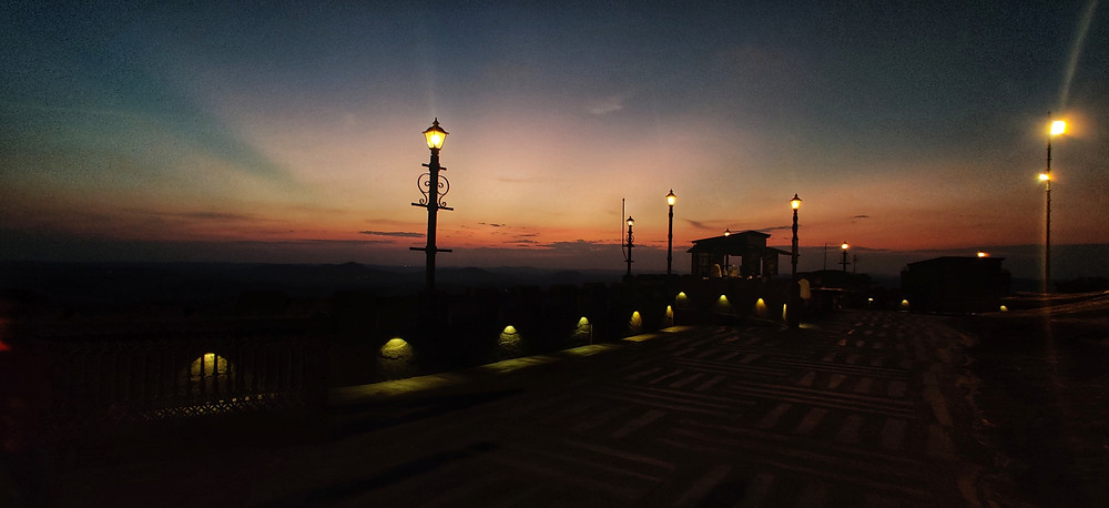 Sunset views at Jatayu Earth's Centre, Kollam