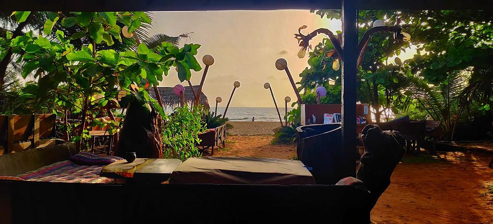 Chez Christophe cafe, Gokarna Middle beach, Karnataka