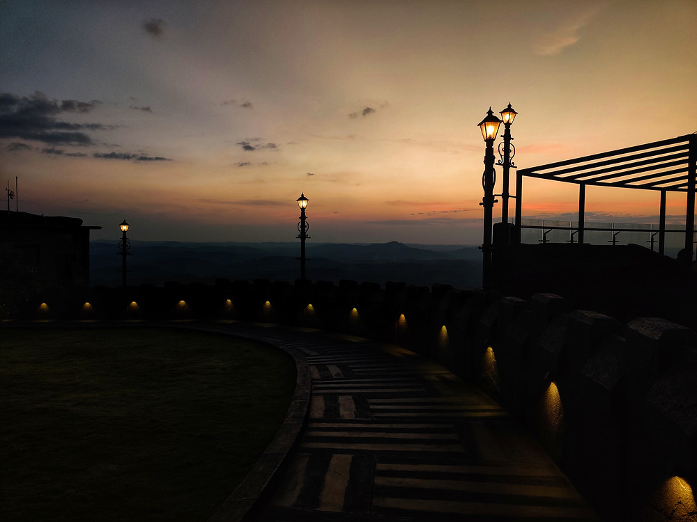 Sunset views at Jatayu Earth's Centre