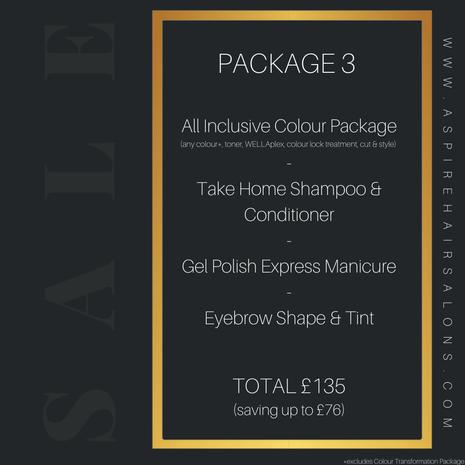 Aspire Hair & Beauty Middlesbrough Lockdown Package 3