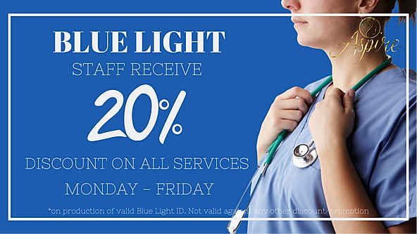 NHS Blue Light Discount Aspire Hairdressing & Beauty Middlesbrough