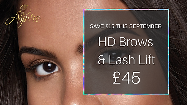 HD Brows and Ellebanna Lash Lift Treatment Combo Middlesbrough. Aspire Hairdressing & Beauty