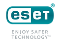 ESET logo - Stacked - Colour - Mid Grey