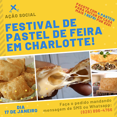 FESTIVAL DE PASTEL DE FEIRA EM CHARLOTTE