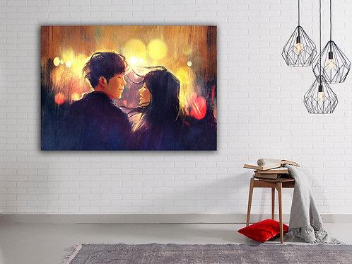 Картина на холсте Огни Любви