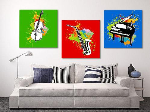 Модульная картина Музыкальная эйфория