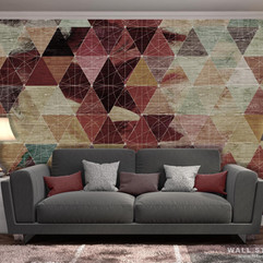 Треугольники на текстуре дерева интерьер