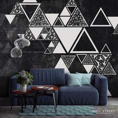 Треугольники на стене #2 интерьер 17698.