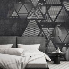 Треугольники на стене #3 интерьер 17699.