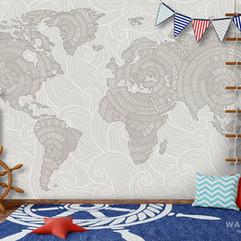 18295 Узорчатая карта (бежевая) интерьер