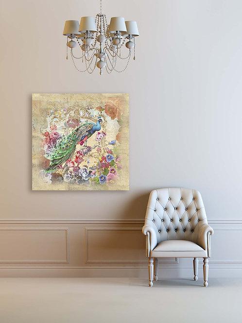 Картина на холсте Восхитительный павлин