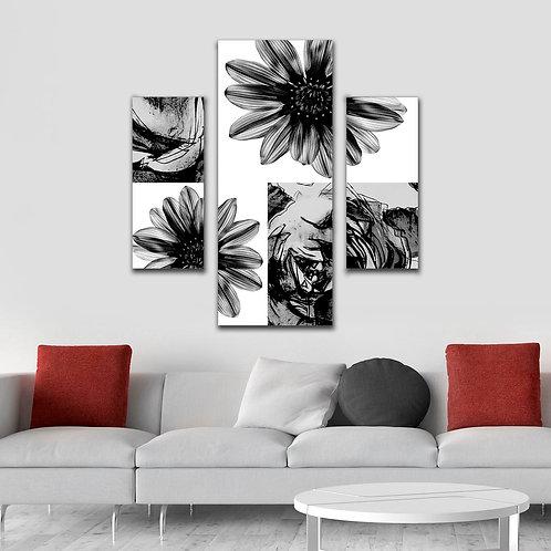 Модульная картины Цветы