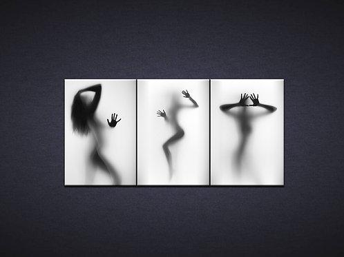 Модульная картина Силуэты девушек