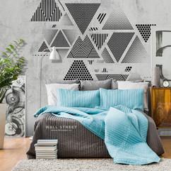 Треугольники на стене интерьер 17700.jpg