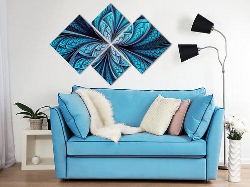 Модульная картина Сияющая синева