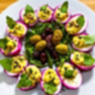 Light Lunch! 😉_Pretty Pink Deviled-Eggs