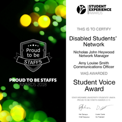 Student Voice Award 2018 - Disabled Students' Network