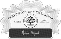 IDF Membership Certificate