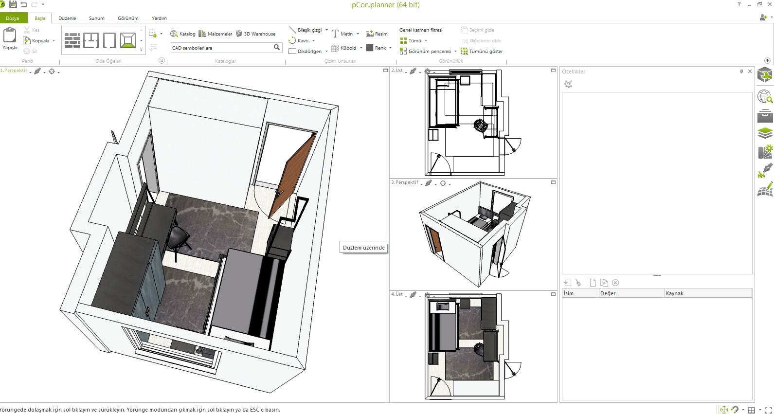 Dark Metal Genç Odası 3D tasarımı