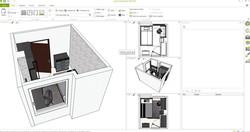 Dark Metal Genç Odası 3D tasarım