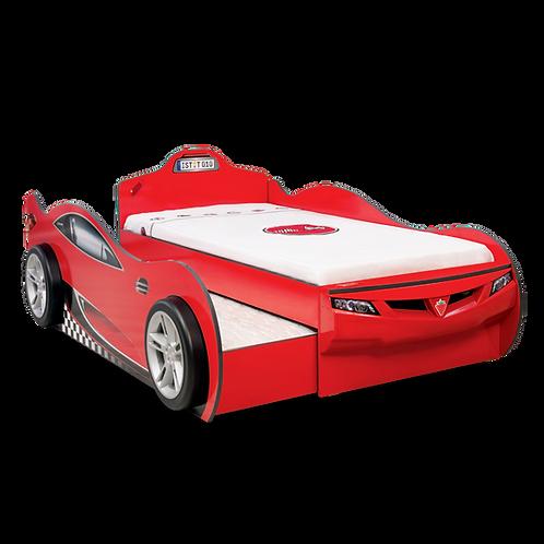 Coupe Araba Yatak (Arkadaş Yatakli) (Kırmızı) (90x190 - 90x180 Cm)