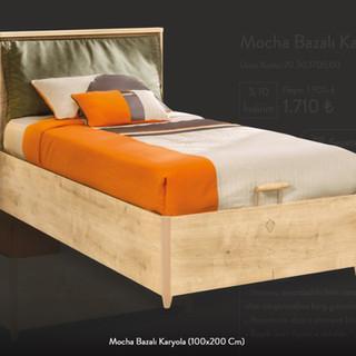 Mocha Bazalı Karyola (100x200 Cm)