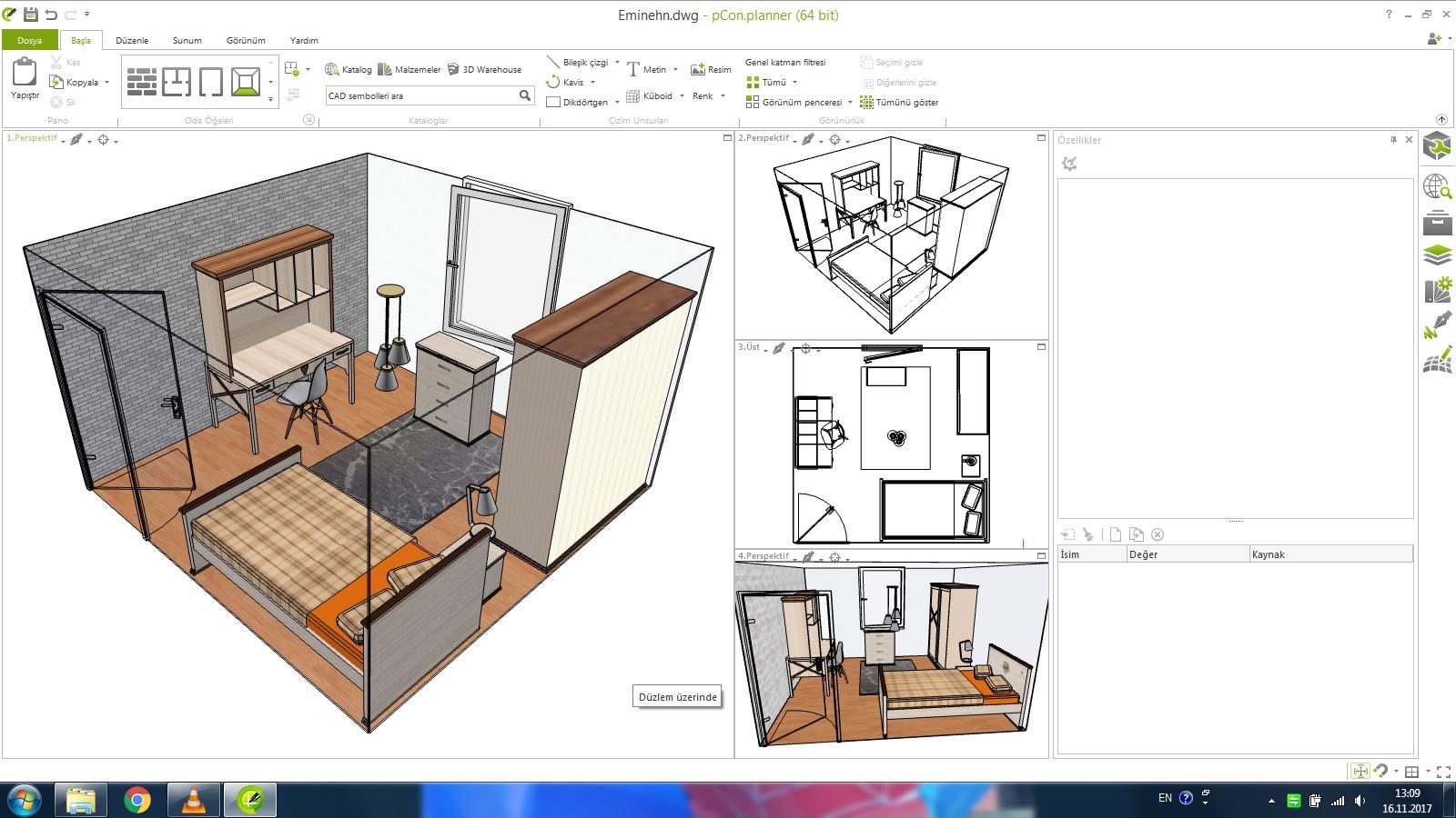Royal Genç Odası 3D tasarım