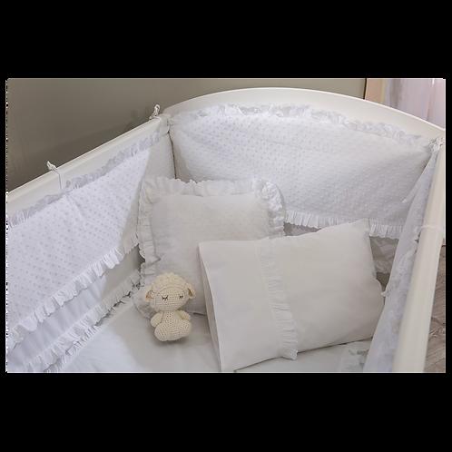 Beyaz Bebek Uyku Seti (70x130 Cm)