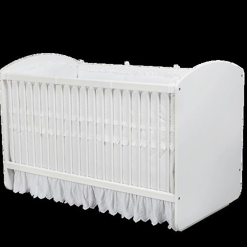 Beyaz Sallanan Bebek Karyolası (70x130 Cm)
