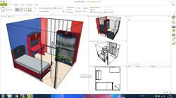 Football Çocuk Odası 3D tasarım
