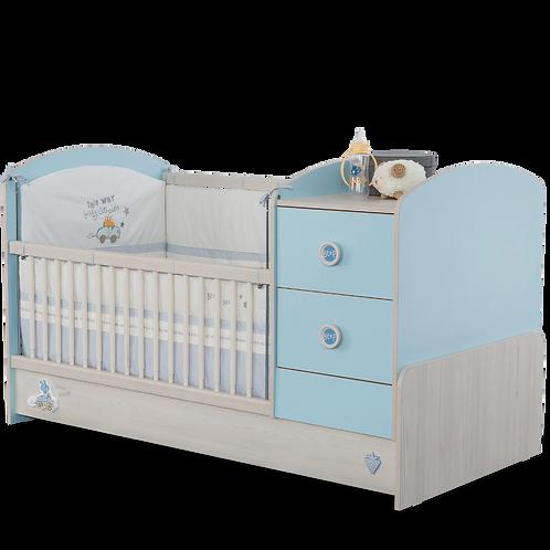 Baby Boy Büyüyen Bebek Karyolası (75x160 Cm