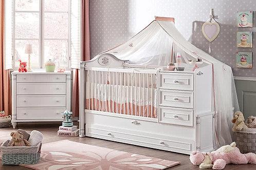 Romantic Baby Büyüyen Bebek Karyolası(Ebeveyn Karyolalı) 80*180 cm