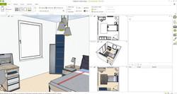 Trio Genç Odası 3D tasarım