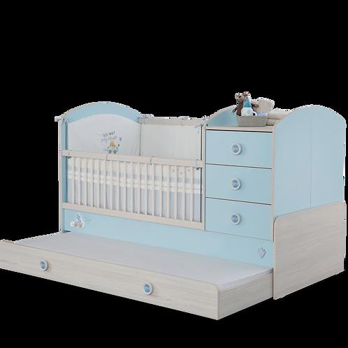 Baby Boy Büyüyen Bebek Karyolası (Ebeveyn Yatakli) (80x180 Cm)