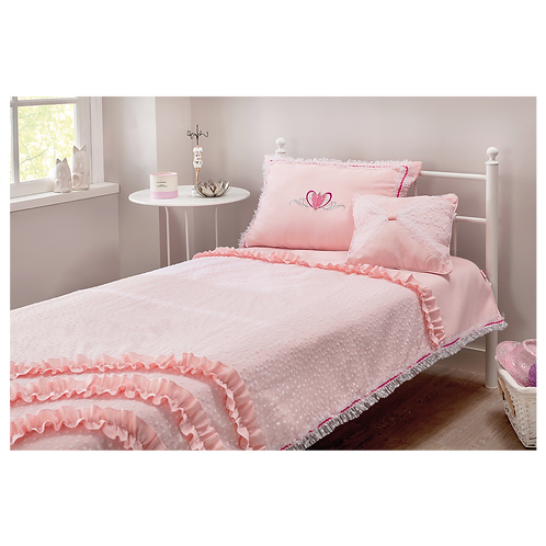Rosa Yatak Örtüsü (120-140 Cm)