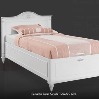 Romantic Bazalı Karyola (90x190 Cm)