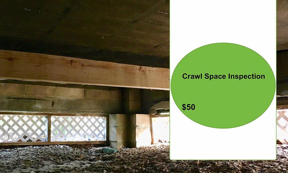 CRAWLSPACE Inspection  Add $50