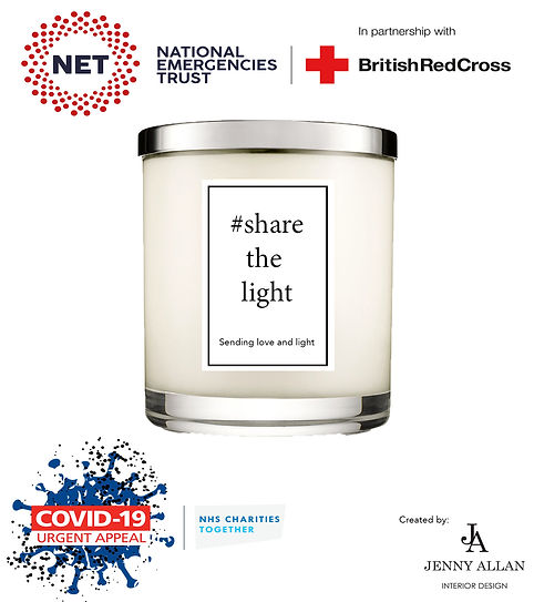 Charity candle image share the lightwhit