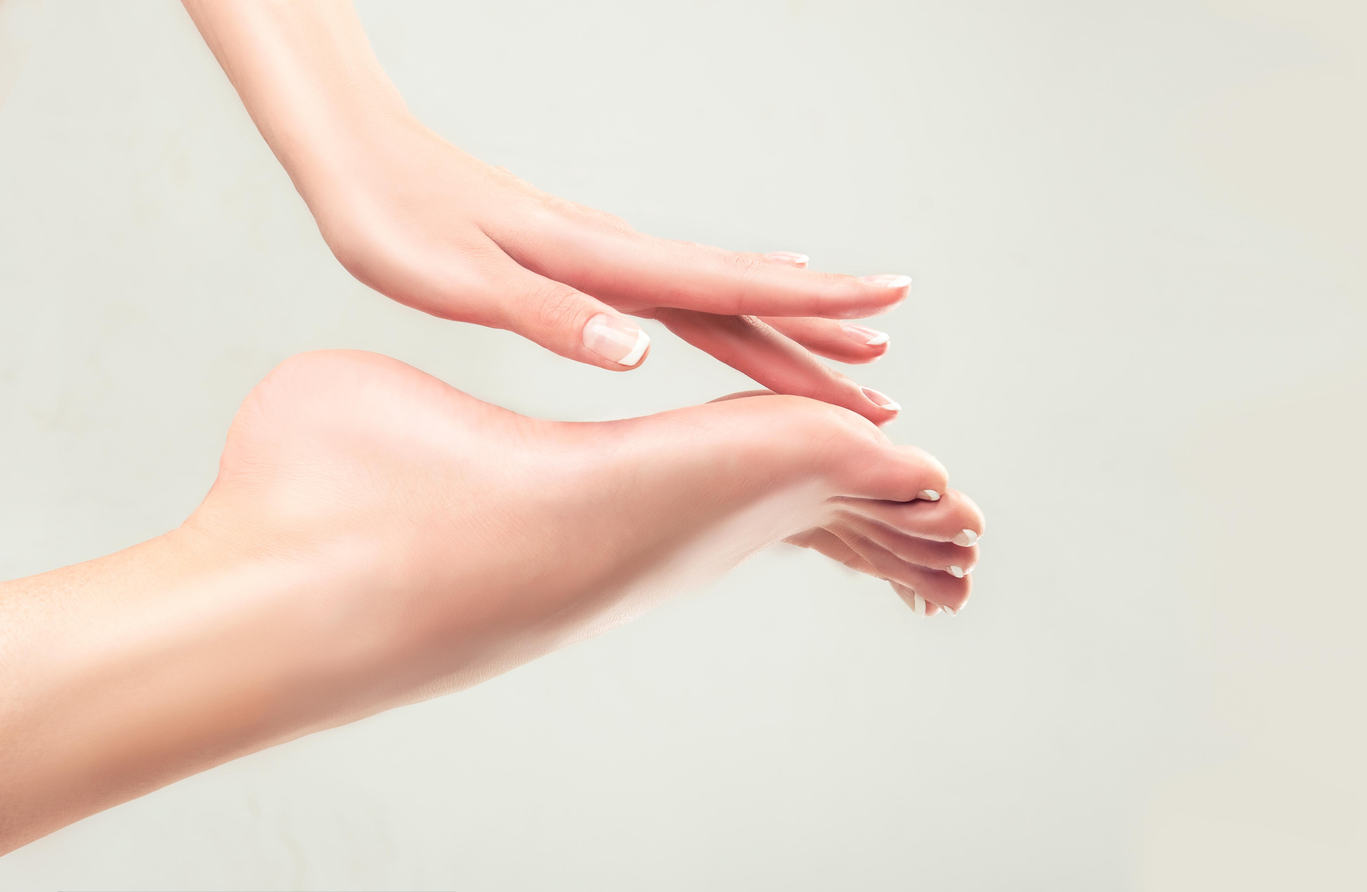 Perfect clean female feet