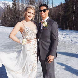 Our _harleyy_wittmer doll in _johnathankayne for #prom2018 💕 love  the matching bow tie and pocket