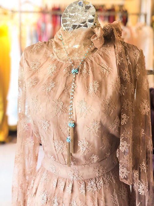 Nude Lace Summer Dress