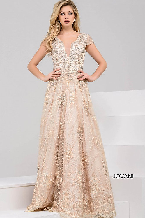 JOVANI 48943 GOLD BALL GOWN